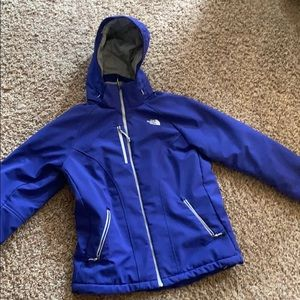 Purple The North Face heavy jacket